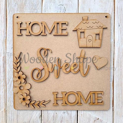 MDF SP Laser Cut Craft Kit DIY Home Sweet Home