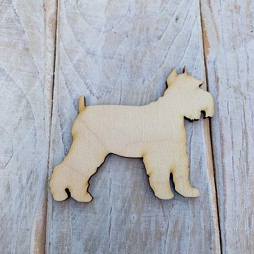 Plywood Schnauzer Dog Shape 10 PACK