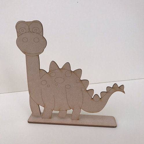 MDF Dinosaur on Stand Brontosaurus