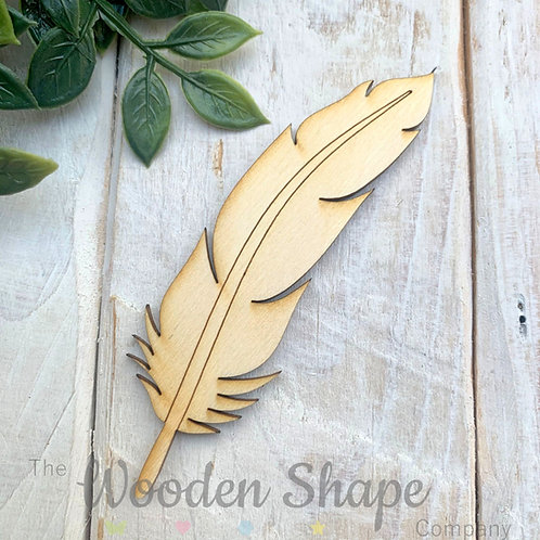 Plywood Shapes Feather with Detail  10 Pack