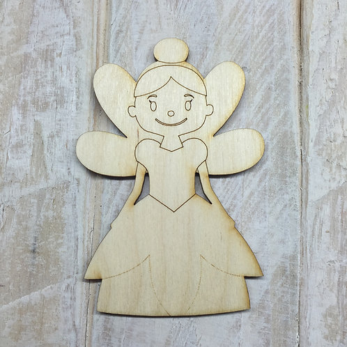 Plywood Fairy Shape 10 PACK