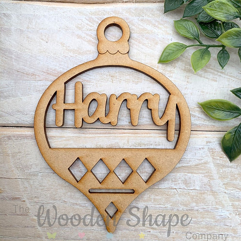 MDF Personalised Bauble TD1