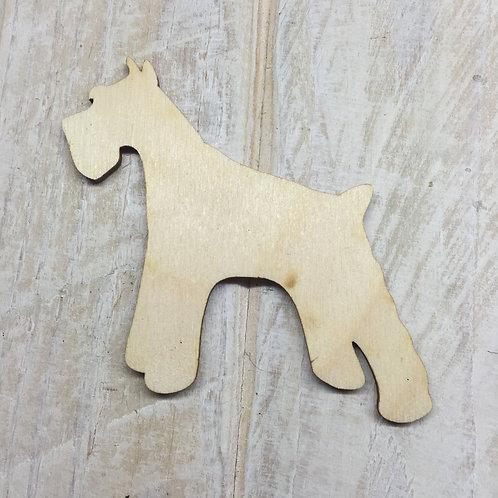 Plywood Schnauzer Side Dog Shape 10 PACK
