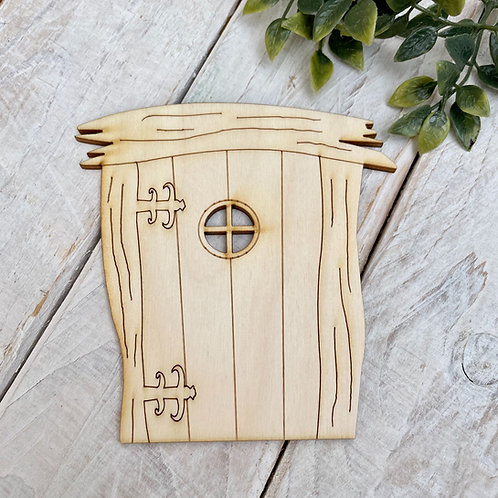 6 Pack Plywood Fairy Doors Code Flat WH