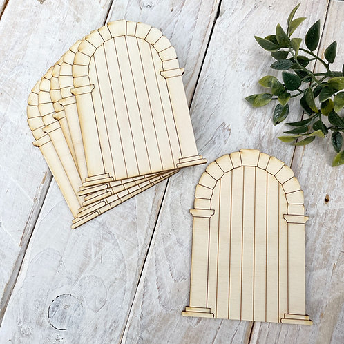 6 Pack Plywood Fairy Doors Code Flat PS