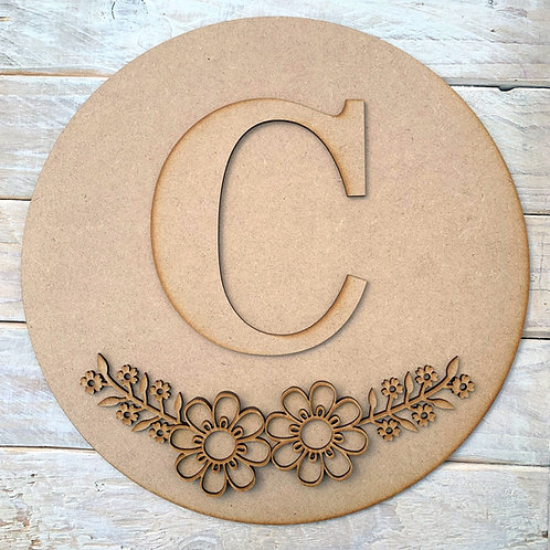 Circle Hoop Kit with Initial