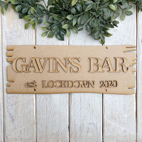 Personalised Top Plaque Direction Sign Bar