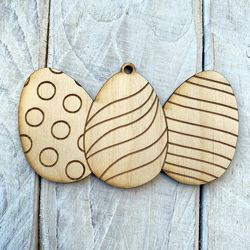 Plywood 3 Easter Eggs 10 Pack