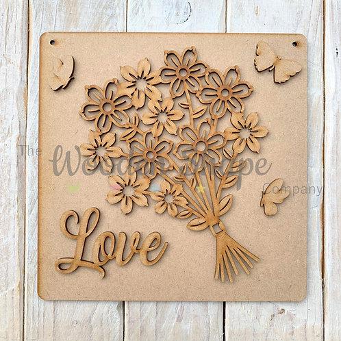 MDF SP Laser Cut Craft Kit DIY Flower Bouquet Love