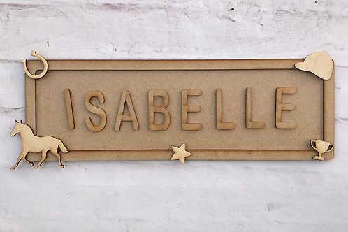 Horse Theme Room Sign Large (up to 10 letters)