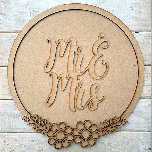 Layered Hoop Kit Backboard Mr & Mrs, Mr & Mr, Mrs & Mrs