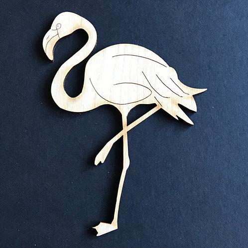Plywood 10 Pack Shape Flamingo