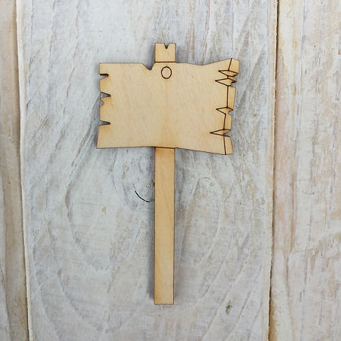 6 Pack Wooden Fairy Sign Posts Code R