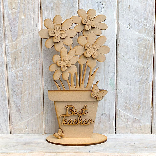MDF Freestanding Flower Pot Teacher
