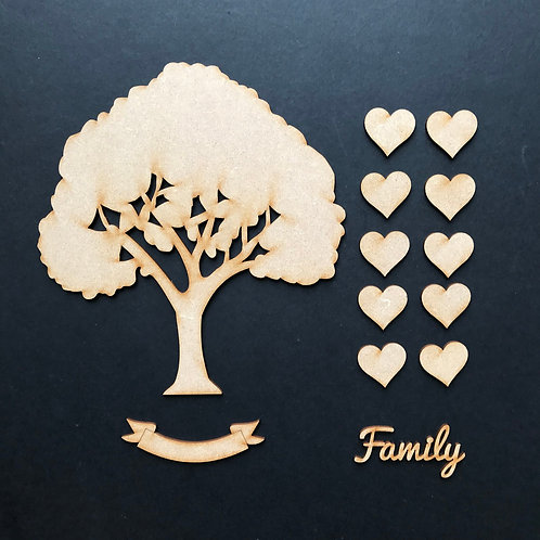 MDF Wooden Tree Code Full Kit 2 Size Options