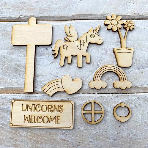 Fairy Door Accessory Kit Unicorn Pack