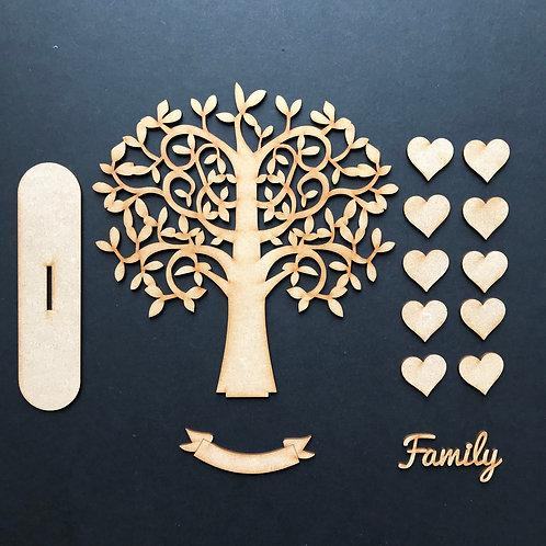 MDF Wooden Tree Code Swirl Stand Kit