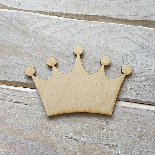 Plywood PRINCESS CROWN Shape 10 PACK