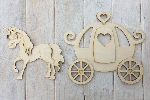 Princess Carriage & Unicorn