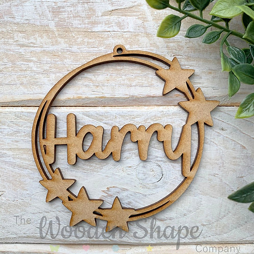 MDF Personalised Bauble Star Loop