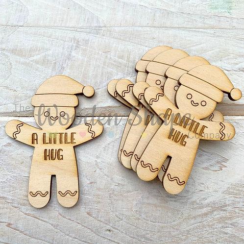 5 Pack Christmas Hug Token Gingerbread Man Hug