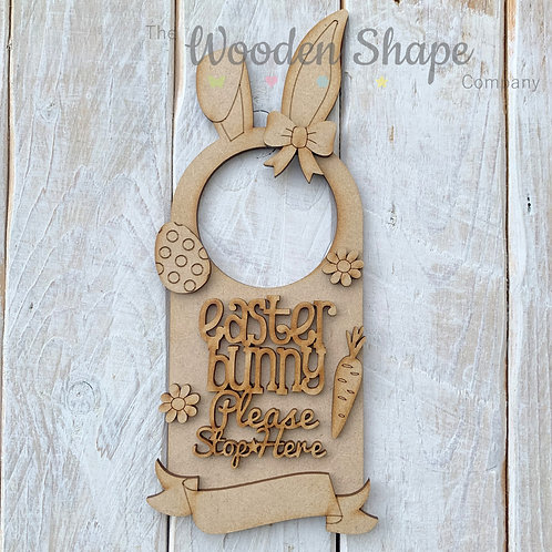 Door Hanger Layered Easter Bunny