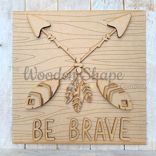 Layered Tribal Boho Arrow Sign Be Brave