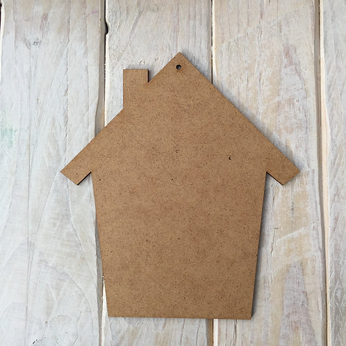 MDF House Shape Plaque