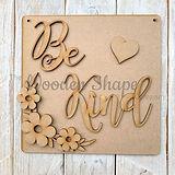laser cut wooden craft kit pack be kind