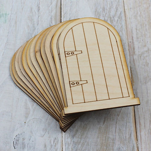 6 Pack Wooden Fairy Doors Code Flat BE