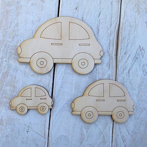Plywood Cute Car 10 Pack