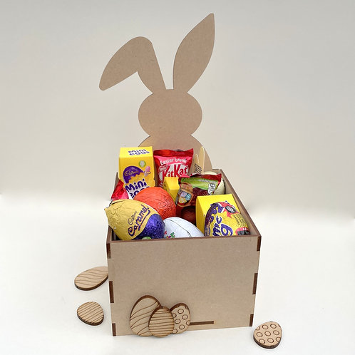 MDF Easter Fillable Treat Box Bunny Front