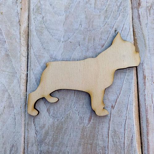 Plywood French Bulldog Dog Shape 10 PACK