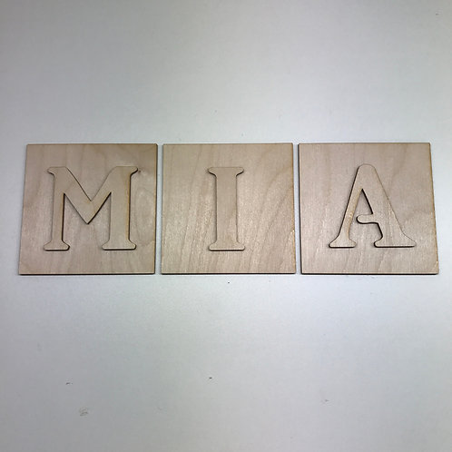 LARGE SCRABBLE TILE with LETTER