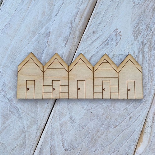 Plywood Beach Hut Row 10 Pack