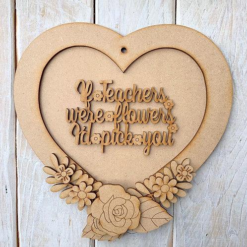 Layered Heart Frame Kit 20cm Teacher Pick You