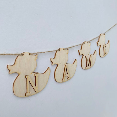 Duck Bunting with Letters
