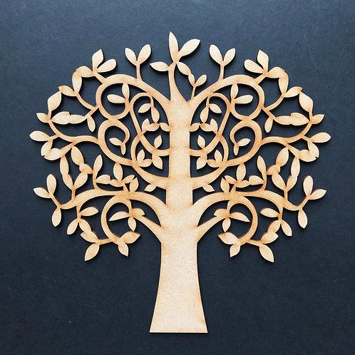 MDF Wooden Tree Code Swirl