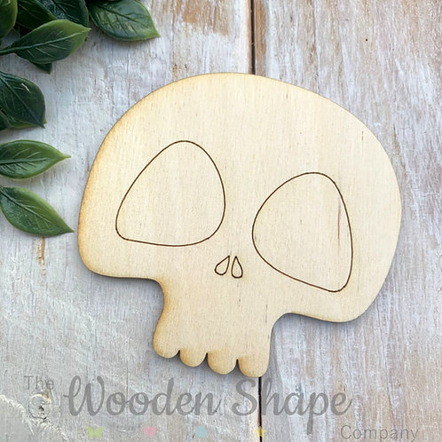 Plywood Skull Shapes 10 Pack
