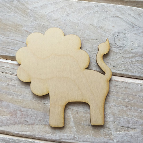Plywood LION Shape 10 PACK