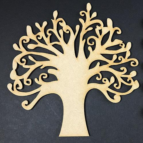 MDF Wooden Tree Code Round