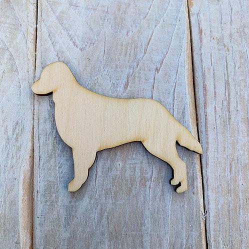 Plywood Flatcoat Retriever Dog Shape 10 PACK