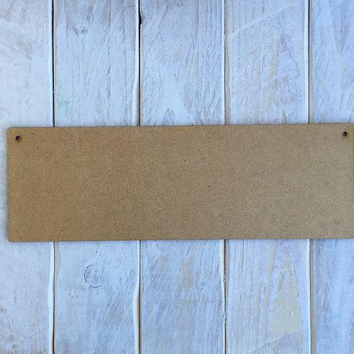 30cm x 10cm MDF Wooden Plaque