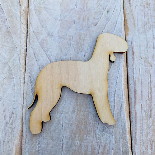 Plywood Beddingham Terrier Dog Shape 10 PACK