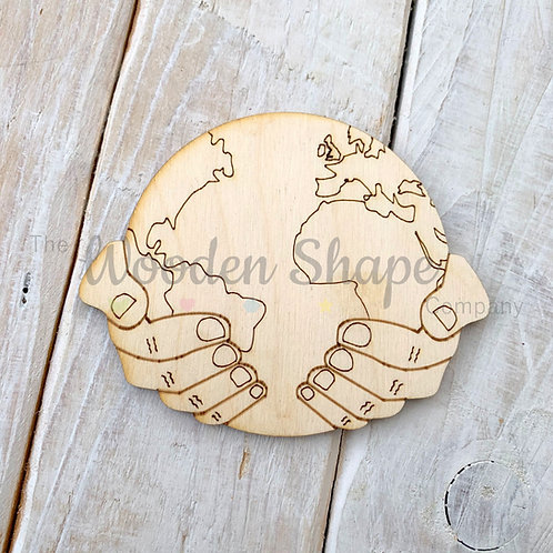 Plywood World in Hands Shape 10 Pack