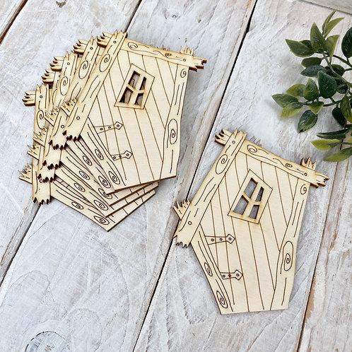 6 Pack Plywood Fairy Doors Code Flat SB