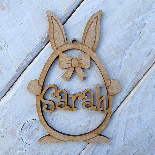 Personalised Easter Tree Decoration Egg Ears with Name