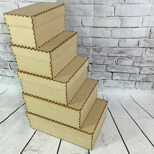 MDF Wooden Craft Box With Lid Build Your Own
