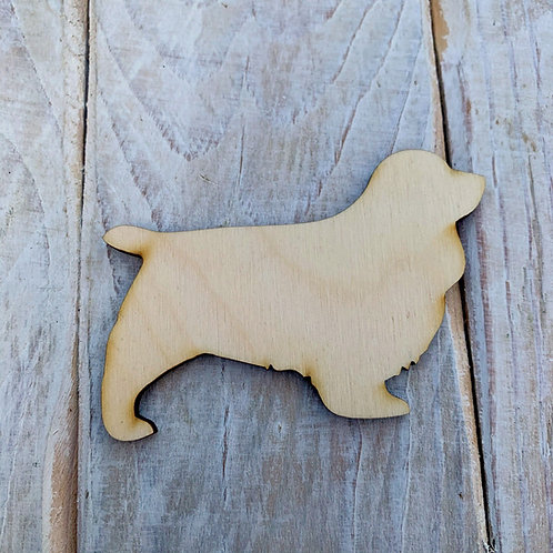 Plywood Sussex Spaniel Dog Shape 10 PACK