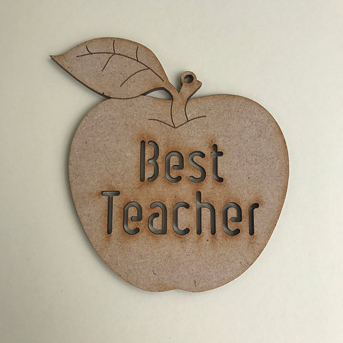 MDF Hanging Apple with Cut Out